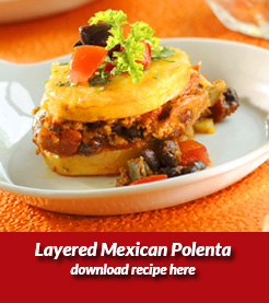 Layered Mexican Polenta